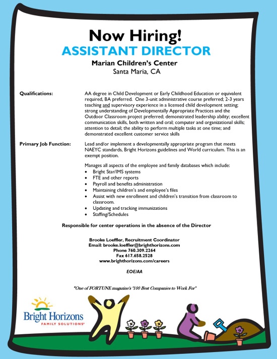 Assistant Director, Marian Children's Center